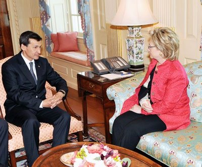 Secretary Clinton and FM from Turkmenistan
