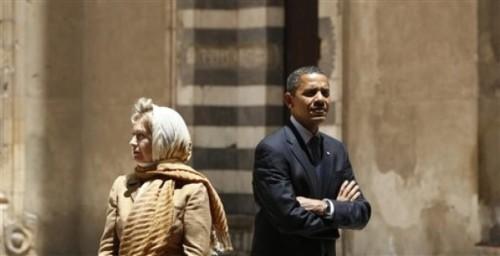 APTOPIX EGYPT Obama