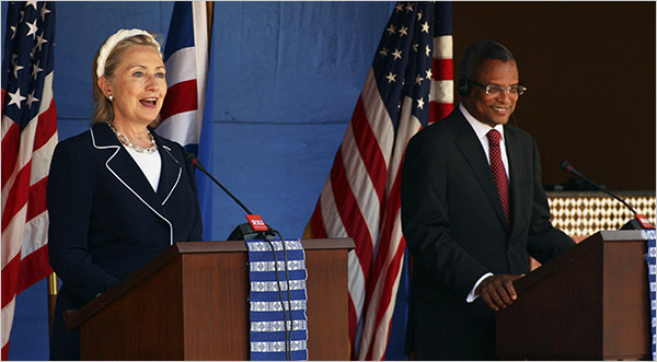 Secretary Clinton at joint press briefing in Cape Verde Aug. 14th, 2009