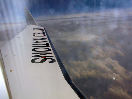 Out the window of the UN plane bringing the Secretary to Goma