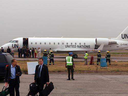 UN plane for Secretary Clinton