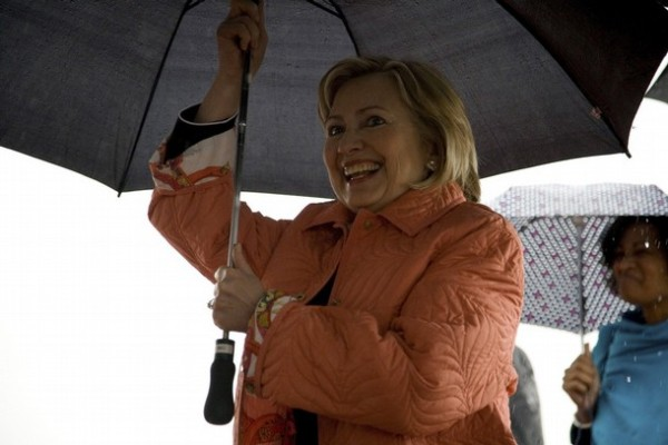 Secretary Clinton at her arrival at the airport near Monrovia, Aug. 13th, 2009(REUTERS/Glenna Gordon)