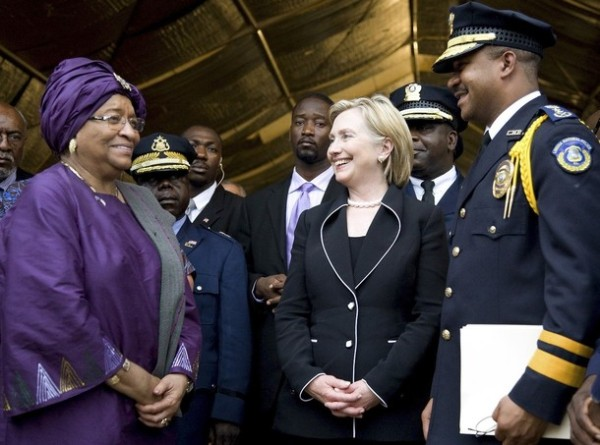 Secretary Clinton & President Johnson-Sirleaf of Liberia, Aug. 13th, 2009
