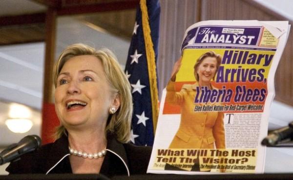 Liberia loves Hillary!