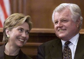 Senators Clinton and Kennedy when they were colleagues in the U.S. Senate