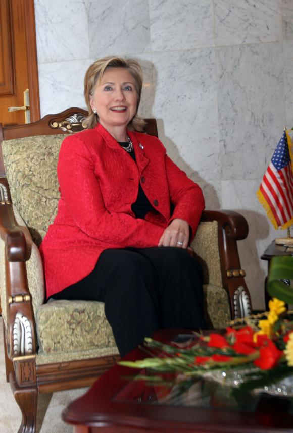 US-Secretary-of-State-Clinton-visits-Baghdad