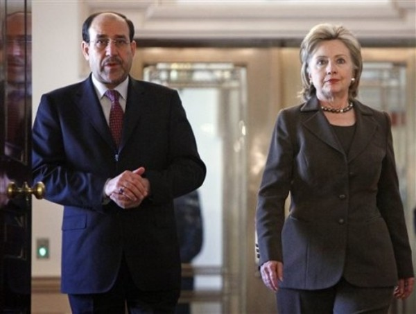 Secretary Clinton & Prime Minister Nouri al-MalikiMonday, Oct. 19, 2009 (AP Photo/Haraz N. Ghanbari)