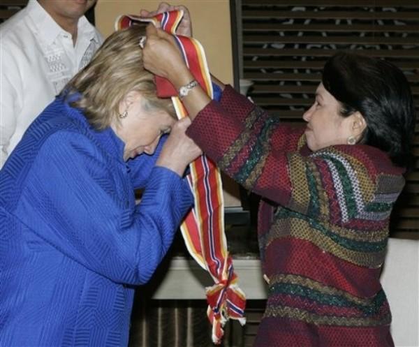 Philippines US Clinton