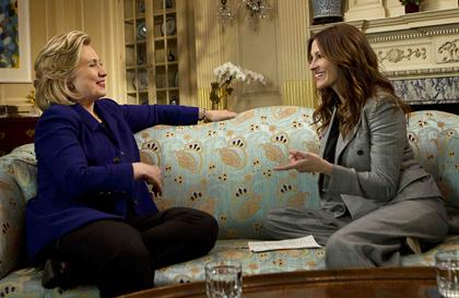 Secretary Of State Hillary Clinton Julia Roberts On